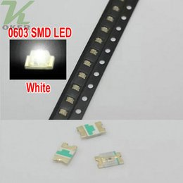 4000 PCS reel SMD 0603 White LED Lamp Diodes Ultra Bright 0603 SMD Green LED Free shipping