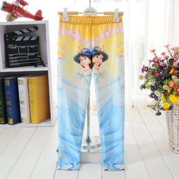 Wholesale NEW Cute Kids Children Girl Cartoon Aladdin Jasmine princess D prints Running Elastic Fitness Sport Leggings Pants