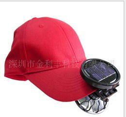 Wholesale Solar Fan Portable Ceiling Fans Solar Fan Hat Sun Power Energy Panel Clip on Cooling Hat Cooler Fan For Camping Hiking Portable Mini Fan