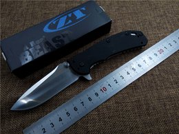 Zero Tolerance ZT 0566BW Folding Knife Outdoor Survival Camping Pocket knife D2 blade G10 handle EDC tool