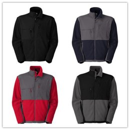 Wholesale Mens Outerwear Brand Fleece Jackets APEX Waterproof Sports Overcoat Black Blue Gray Red Clothing Embroidery Logo
