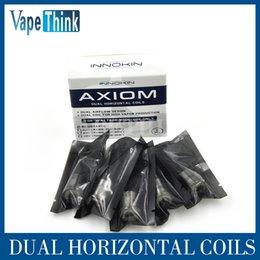 Innokin el precio más barato para el tanque de Axiom y la bobina de Axion 0.5ohm Kanthal 0.5ohm bobina horizontal dual 5pcs / paquete suteable para el atomizador del sub-ohmio desde innokin más barata proveedores
