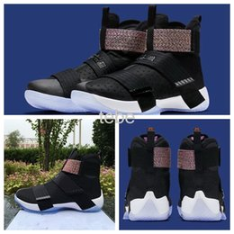 Wholesale 2016 New Top Quality Lebron Soldiers Men s Basketball Shoes With Carbon Fiber LBJ X James Black Sneakers Size