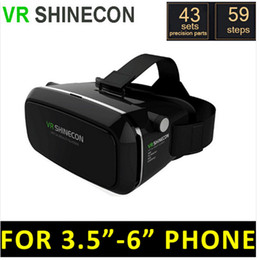 Wholesale Google Cardboard VR BOX II VR Virtual Reality D Glasses For inch inch Smartphone come with White Bluetooth Remote control