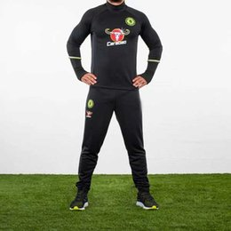 Wholesale NEW soccer training suit jacket skinny pants Chelsea football tracksuit trousers football shirt