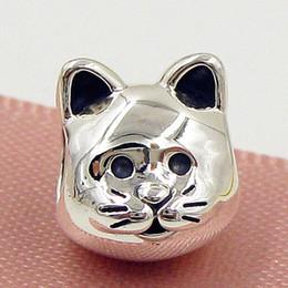 2015 Nuevo encanto de encanto curioso del gato de la plata esterlina del otoño 100% 925 se adapta al collar europeo de las pulseras de la joyería de Pandora desde gatos de perlas fabricantes