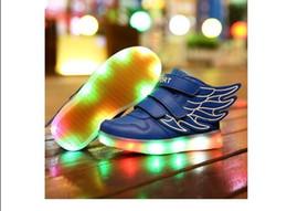 Enfants Chaussures Avec Light Up Sneakers Pour Enfants USB Charging Sole Sneakers Luminous Chaussures Led Chaussures Filles Chaussures Avec Ailes à partir de enfants enfants chaussures ailées fabricateur