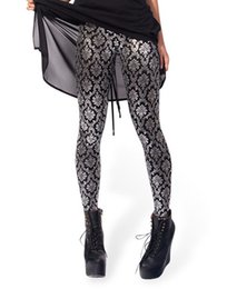 Wholesale-Drop ship S-4XL 2016 Women Shiny wallpaper Leggings MIlk Leggings Galaxy leggings Plus Size girl Leggings