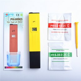Wholesale 2016 Hot Selling Aquarium Digital PH Meter Tester Pocket Pen Aquarium Water Quality Tester By DHL
