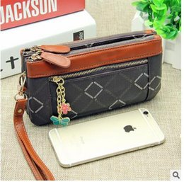 Ms. long section of high-capacity multi-functional zipper purse Korean cute hand bag with a cell phone 9.9 free shipping purse
