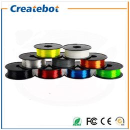 Wholesale 3d Printer Filament Flexible filament mm mm kg Plastic Rubber Consumables Material Print Parts for createbot d printer