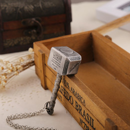 Thor Hammer Pendant Necklace The Dark World Pendant Necklace The Avengers Superhero Cosplay Props Statement Jewelry