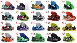 Wholesale Whosale Basketball Shoes Sneakers kobe8 Runing Kevins KOBE VIII Lowe Elites Black Durant Men Original kb8 Basket Femme Sport Shoes