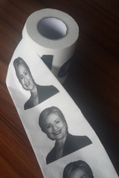 Wholesale SF EXPRESS New Hillary Clinton Toilet Paper Fashion Tissue America Donald John Trump Toilet Paper Roll Paper