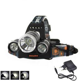 Wholesale 6000LM x XML T6 LED x18650 Stirnlampe Kopf Lampe Licht USB EU Ladegerät Boruit