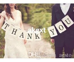 Wholesale -THANK YOU Wedding Banner Wedding Sign Photo Prop Wedding Party Decoration New#E701