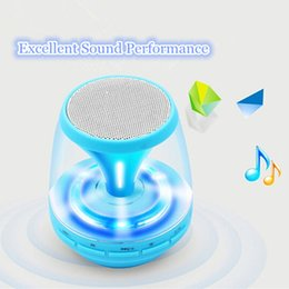 Wireless bluetooth speaker Mini Cute Wireless Portable Bluetooth Speaker with LED Light for Home Theater Computer Iphone