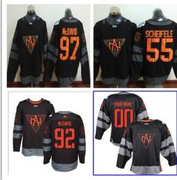 Wholesale Top quality North Americe Hockey Connor McDavid SCHIFELE Black World cup of Hockey player jerseys mix order
