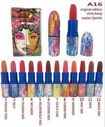 Wholesale 2016 New Chris Retro Matte Lipstick Limited Edition Lipstick Color Chris Chang VERMILLION VEE Matte Brand M Lipstick A16