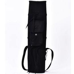 Wholesale Free shopping pc backpack arrow quiver for holding arrows black suede leather arrow bag holder