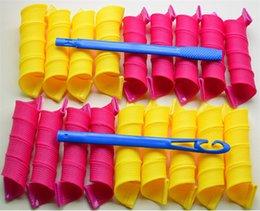 18pcs set 40cmx3cm DIY Big Magic Hair Curler magic hair Rollers Magic Circle Hair Styling Rollers Curlers Wholesale ELC007