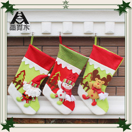 Wholesale Christmas stocking ornaments decorations Hanging Gifts bag handcraft stockings cm christmas supplies tree scarf