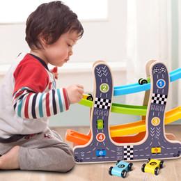 1-2-3 years old baby car glide track car boy warrior children puzzle toy