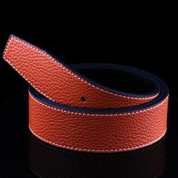 Wholesale Korean Smooth Buckles Men Belts Letter H Big Metal Buckle g Women PU Leather FF Belt