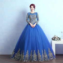 luxury long sleeve blue hot pink golden embroidery ball gown medieval Renaissance Gown queen Dress Victoria Antoinette Belle