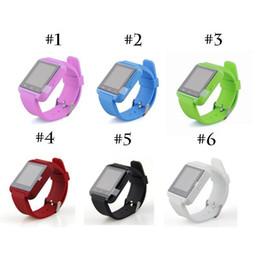 U8 Smart Watch Bluetooth smart bracelet Wristband U8 watch Fitness tracker Altimeter U8 smartwatch for ios android System DHL Free