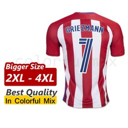Wholesale Bigger Size XL XL XL Atletico Madrid Griezmann Fernando Torres Top Quality Soccer jersey XXL XXXL XXXXL Camiseta de futbol
