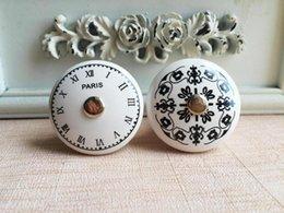 Wholesale French PARIS Paris ceramic handle Clock Digital European pattern retro furniture drawer chest