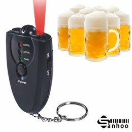 Wholesale Digital Breathalyzer Key Chain Alcohol Tester Alcohol Breath Analyze Tester with flashlight