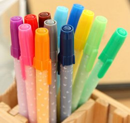 Wholesale New Creative pen Jelly Color Gel Ink pen Multicolor pens mm gel ink Pen with caps ballpen holder promotion gifts business stationery