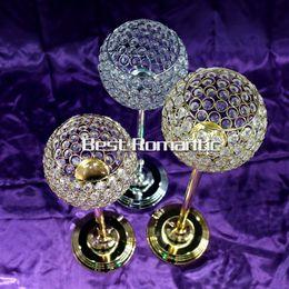 Wholesale New gold sliver resin flower pot wedding flower vase with crystal centerpiece Roman column road leads floral bottle furnishing articles