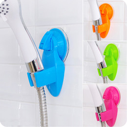 Wholesale Portable Adjustable Home Bathroom Shower Head Holder Super Wall Vacuum Suction Cup Mount Tool Mix Color