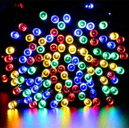 Wholesale 12M M LED solar string light LEDs LEDs solar power Fairy lights waterproof outdoor led Christmas lights for garden party decor