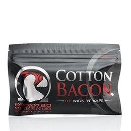 Compra Online Mejor rba-ALGODON BACON 2.0 Algodón puro al por mayor 100% del tocino el mejor algodón de Vaping para los atomizadores de DIY RDA RBA Vaporizadores del cigarrillo de E
