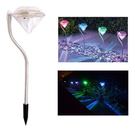 Wholesale 4Color Diamond Lens Stainless Steel Solar Lights Outdoor Sogrand Solar Pathway Lights Solar Landscape Lighting Solar Path Lights Solar G