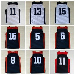 Wholesale Men Dream Team USA Basketball Jerseys American Sports Basket ball Pallacanestro With Player Name Team Logo