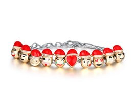 Wholesale NEW Top Grade Emoji Charm Bracelet Dog Beads Gold Plated Men jewelry Bracelet for Women DIY Fit Bracelet Christmas Gift CC769