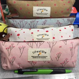 Wholesale Cheap Small Purses Wholesale - New Fashion Cheap Women Small Flower Floral Pencil Pen Canvas Case Cosmetic Makeup Tool Bag Storage Pouch Purse Small Bag