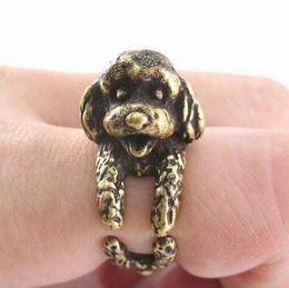 Wholesale LBS Vintage French Pekingese dog rings Dachshund Dog jewerly Gun Black Antique Silver Antique Bronze Sausage Dog Ring