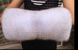 Wholesale real fur best Fox super the fur cuff sleeve fox fur coat sleeves fur wrist cuffs warm fox fur cuff can be customized