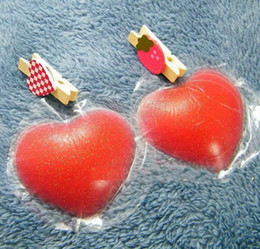 6cm*6cm red heart shape silicone nipple pasties HD comfortable reusable nipple cover for al weather use Headlight Dimmers