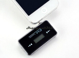 5Pcs Lot Drop Shiping LCD 3.5mm In-car Music Radio MP3 Car FM Transmitter for Apple iPhone 5 5s 5c Wholesale 41