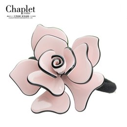 Wholesale Chaplet New High Quality Ladies Scrunchy Hair Rope Rose Elastic Hair Bands Women Flower Hair Accessories Girl Rubber Band