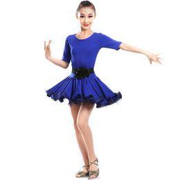 Wholesale Girl Children Latin Dancewear Competition Dancing Clothing Girl Modern Dance Costume Child Latin Ballet Dance Dress For Girls