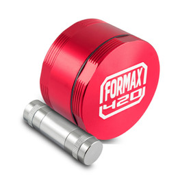 Wholesale FORMAX420 Cross Herb Grinder Inch Piece and Aircraft Grade Aluminum with Pollen Press Scrapper Four Colors