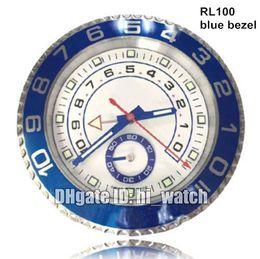 Supler Clone Luxury Brand Design Cheap Wall Decoration Blue Benzel 116680 Steel Wall Watch Clock Wallclock Type Branded horloge murale